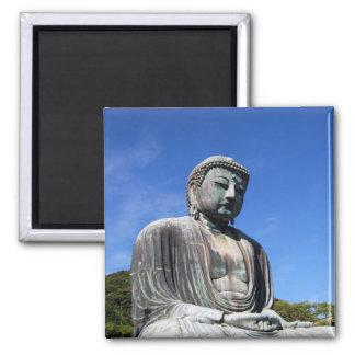 Buddha Statue in Kamakura, Japan 2 Inch Square Magnet