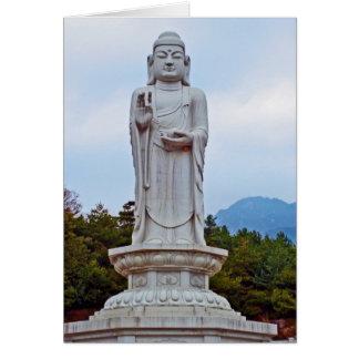 Buddha statue in South Korea, Asia Card