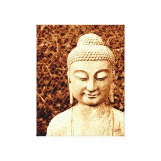 buddha statue photo stretched canvas