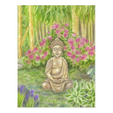 Professional Business Buddha Statue postcard