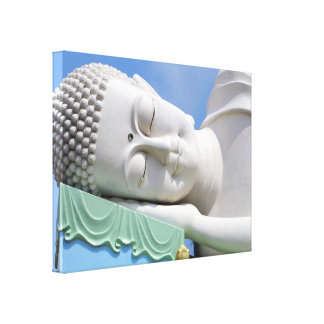 Buddha Statue Resting Sleeping Happy Peace Canvas