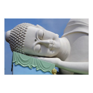 Buddha Statue Resting Sleeping Happy Peace Poster