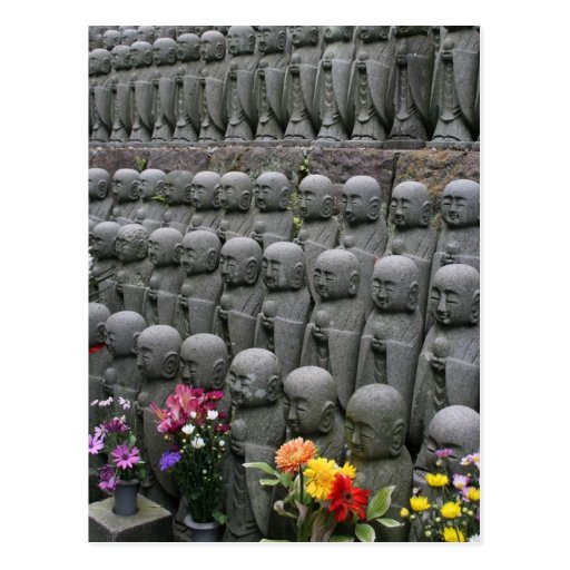 buddha statue rows post cards