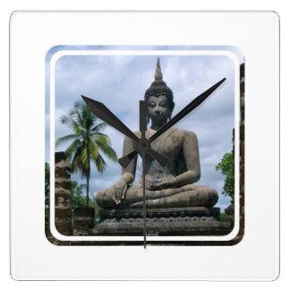 Buddha Statue Wall Clock