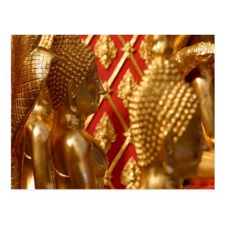 Buddha Statues Thai Temple Photo Postcards