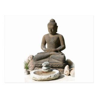 Buddha Statute (White Background) Postcard