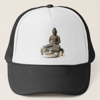 Buddha Statute (White Background) Trucker Hat