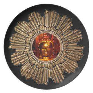 Buddha Sun Black Plate