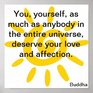 Buddha Sun Poster