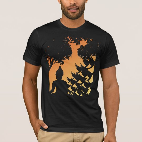 Buddha Sunset Silhouette T-Shirt