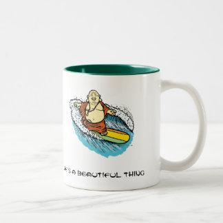 Buddha Surf Two-Tone Coffee Mug