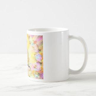 Buddha Surrounded by Flowers Classic White Coffee Mug