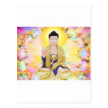 Buddha Surrounded by Flowers Postcard