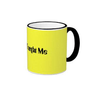Buddha Taught Me Ringer Mug
