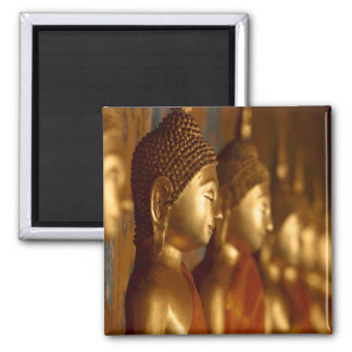 Buddha Thailand Peace Tranquility Serenity 2 Inch Square Magnet