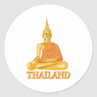 Buddha Thailand Round Stickers