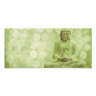buddha the light (light green) photo print