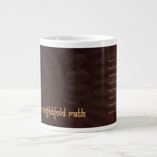 Buddha: The Noble Eightfold Path, jumbo mug 20 Oz Large Ceramic Coffee Mug