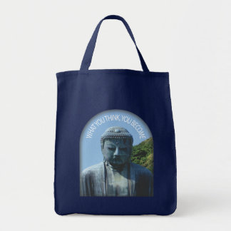 "Buddha ""Think & Become"" Tote Bags"