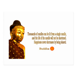Buddha ~ Thousands Of Candles Can Be Lit ... Post Card