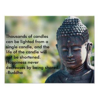"""Buddha """"Thousands of candles"""" Poster"""
