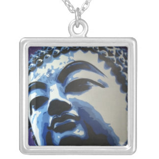 Buddha throat warrior silver plated necklace