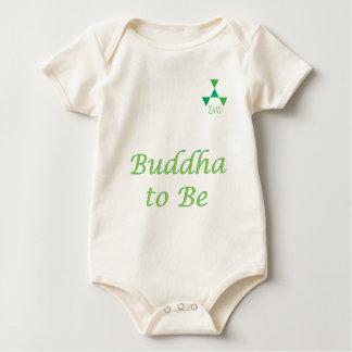 Buddha To Be in green Baby Bodysuit