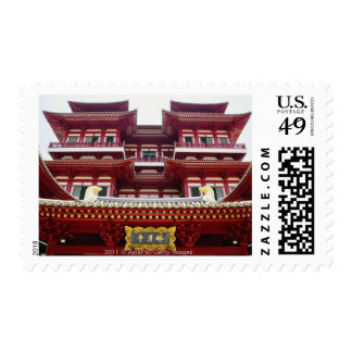 Buddha Tooth Relic Temple and Museum in Singapore Postage Stamp
