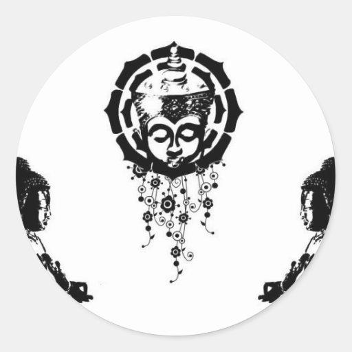 buddha trinity stickers