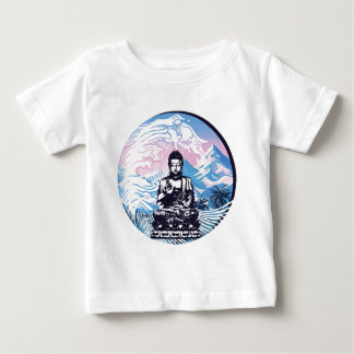 Buddha Tropical Mountain Wave Baby T-Shirt