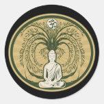 Buddha Under the Bodhi Tree Classic Round Sticker