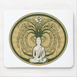 Buddha Under the Bodhi Tree Mouse Pad