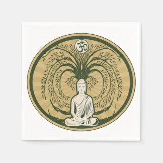 Buddha Under the Bodhi Tree Paper Napkin
