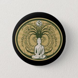 Buddha Under the Bodhi Tree Pinback Button