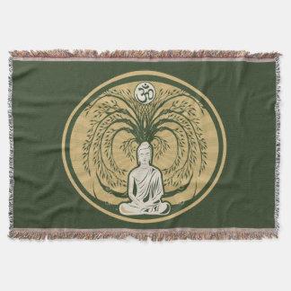 Buddha Under the Bodhi Tree Throw Blanket
