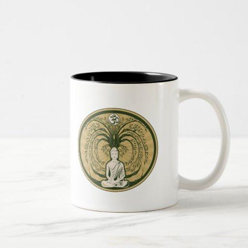 Buddha Under the Bodhi Tree Two-Tone Coffee Mug
