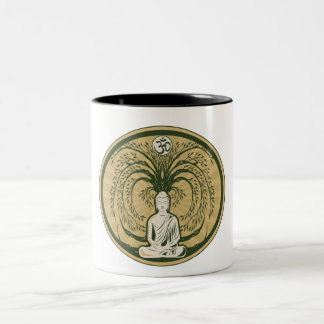 Buddha Under the Bodhi Tree Two-Tone Coffee Mug
