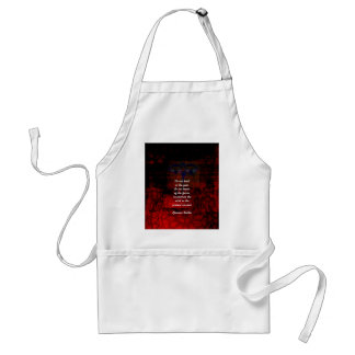 Buddha Uplifting Quote Don't Dwell In The Past Adult Apron