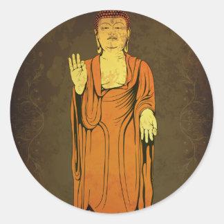 Buddha Vitarka Mudra Classic Round Sticker