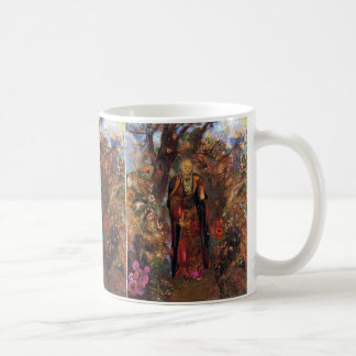Buddha Walking Among the Flowers Coffee Mug