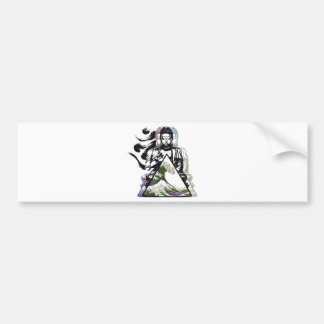 buddha wave 2 bumper sticker