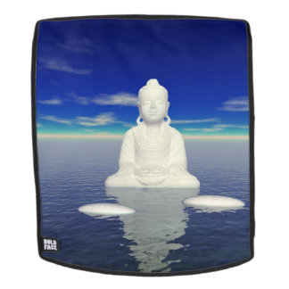 buddha white and two steps backpack