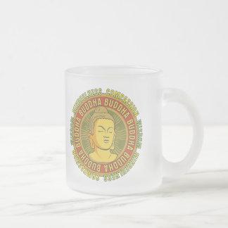 Buddha Wisdom Frosted Glass Coffee Mug