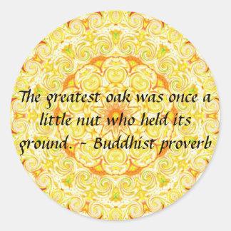 Buddha wisdom quote inspirational motivate classic round sticker