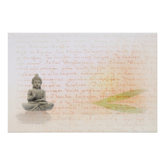 Buddha with Bamboo Poster