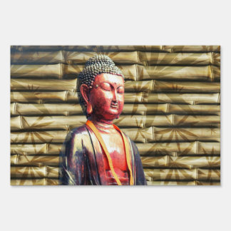 Buddha with Bamboo Sign