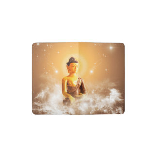 Buddha with clouds and stars pocket moleskine notebook cover with notebook