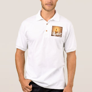 Buddha with clouds and stars polo t-shirts