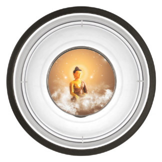 Buddha with clouds and stars pet bowl