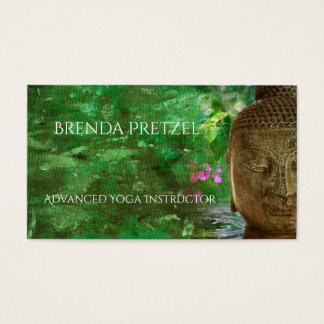 Buddha with Green Paint Business Card